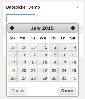datepicker-demo